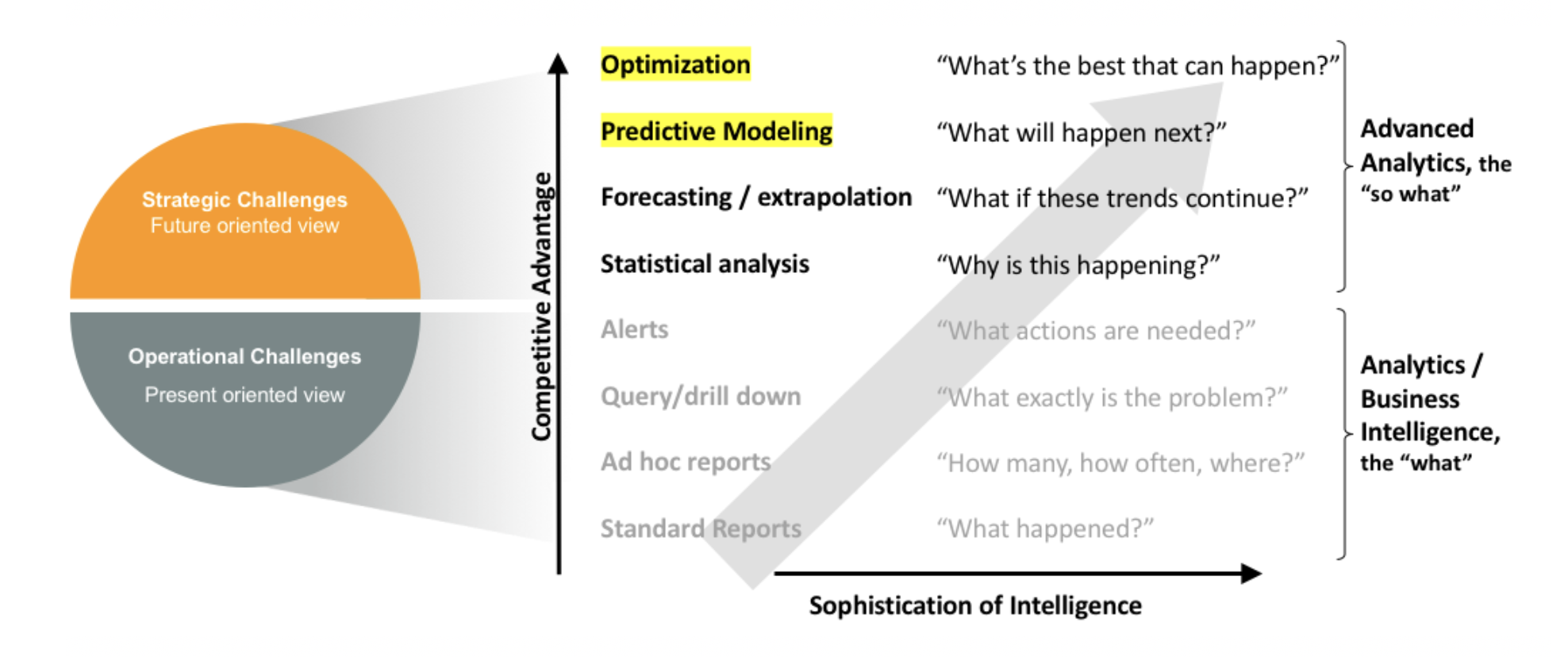 Predictive analytics model, customer segmentation, competitive intelligence